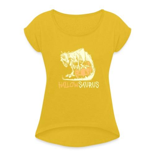 HallowSaurus T-Shirt - Maglietta da donna con risvolti