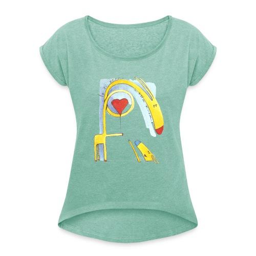 Giraffa innamorata - Maglietta da donna con risvolti