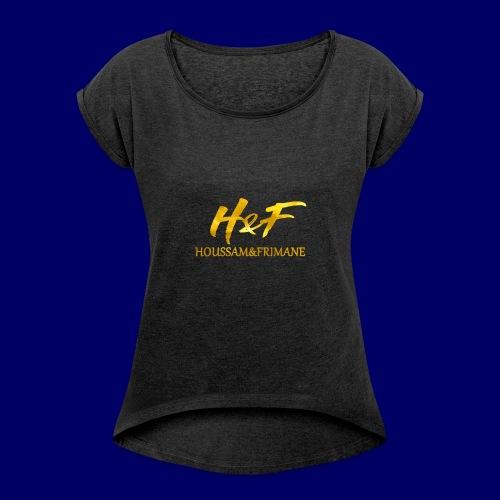 h f gold2 - Maglietta da donna con risvolti