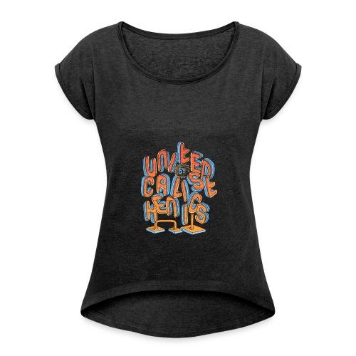 United Calisthenics - Vrouwen T-shirt met opgerolde mouwen