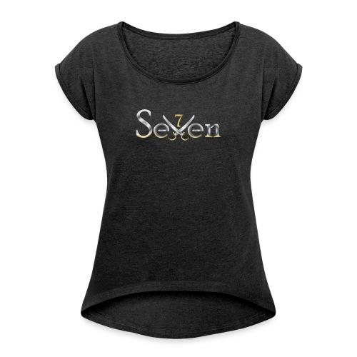 SEVEN - Camiseta con manga enrollada mujer