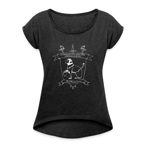 JHMS muki - Naisten T-paita, jossa rullatut hihat