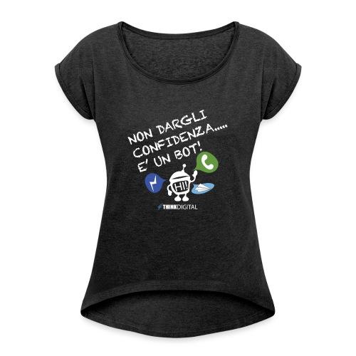 BOT - Maglietta da donna con risvolti