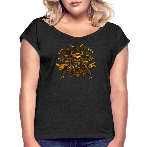 Stone Grooves - Women's T-Shirt with rolled up sleeves