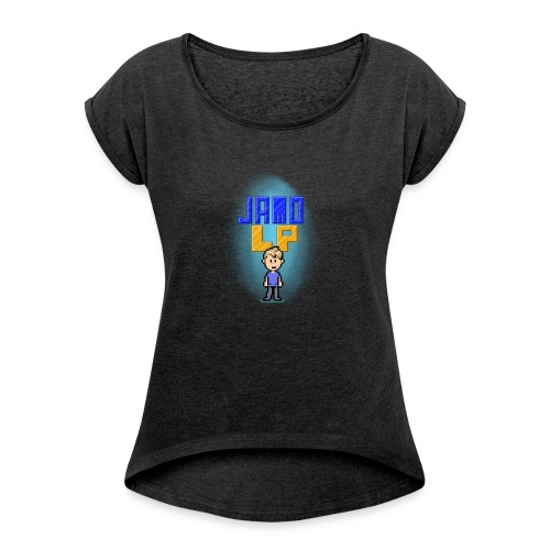 Pixel Jamo - Dame T-shirt med rulleærmer