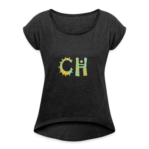 CreaHive - Maglietta da donna con risvolti