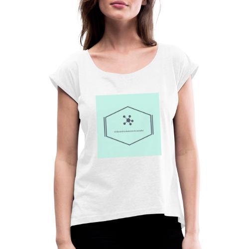 Ich bin nicht so dumm wie du aussiehst - Frauen T-Shirt mit gerollten Ärmeln