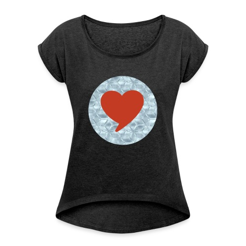 Lovebeautyandhobby - Frauen T-Shirt mit gerollten Ärmeln
