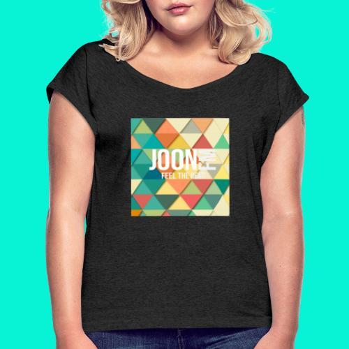 joonfm - Vrouwen T-shirt met opgerolde mouwen