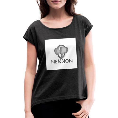 name dark png - Vrouwen T-shirt met opgerolde mouwen