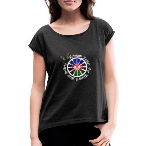 LennyhjulRomaniFolketivitfjerliskulle - T-shirt med upprullade ärmar dam