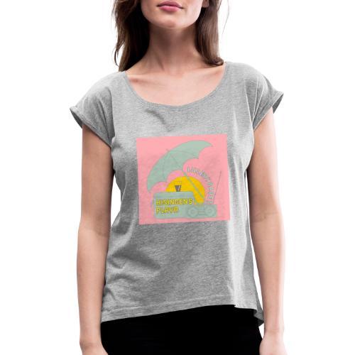 Hisingens playa pink - T-shirt med upprullade ärmar dam