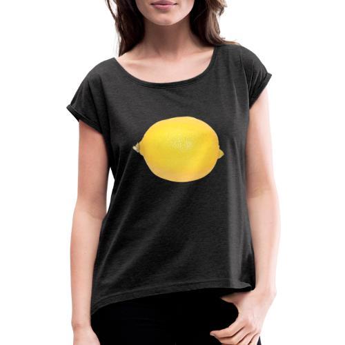 Lemon - Frauen T-Shirt mit gerollten Ärmeln