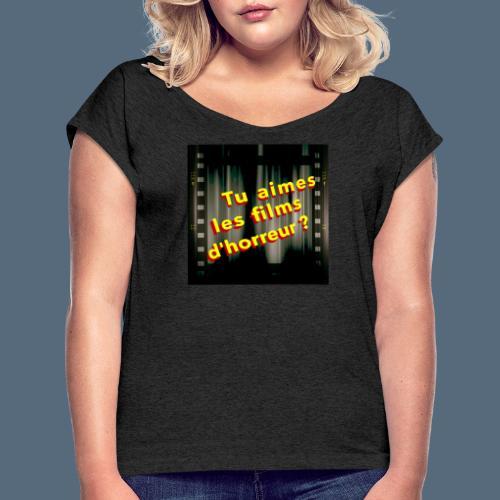 Talfho Logo Vintage Saison 2 - T-shirt à manches retroussées Femme