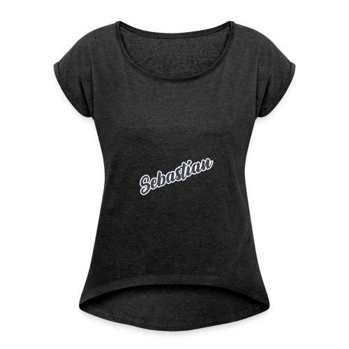 Sebastian - Frauen T-Shirt mit gerollten Ärmeln