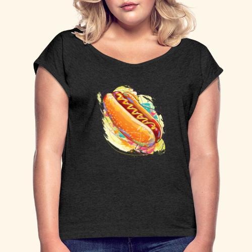 Hot Dog - Camiseta con manga enrollada mujer
