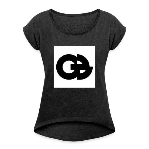 Oddboy OB - T-shirt med upprullade ärmar dam
