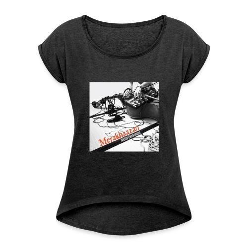 Merkhaazan Recital Electronique Imago records et - T-shirt à manches retroussées Femme