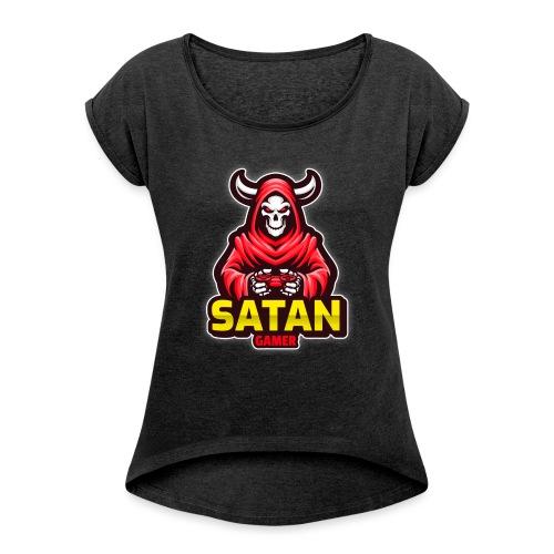 satan gamer - T-shirt à manches retroussées Femme