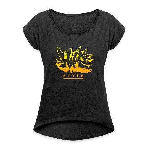 Wild Style Burner - Dame T-shirt med rulleærmer