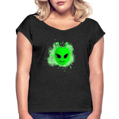 Alien - Frauen T-Shirt mit gerollten Ärmeln