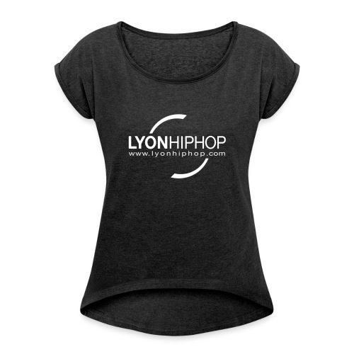 lhhnoir - T-shirt à manches retroussées Femme