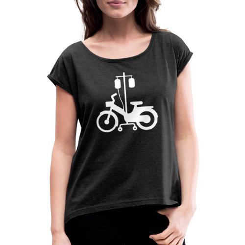 Atelier mob 38120 blanc - T-shirt à manches retroussées Femme
