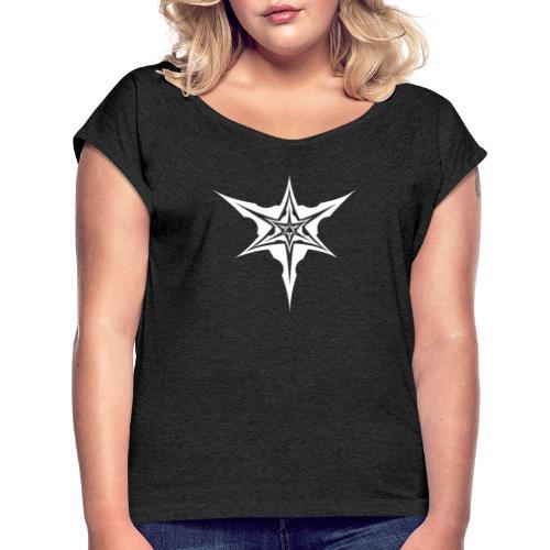 Psybreaks visuel 1 - white color - T-shirt à manches retroussées Femme