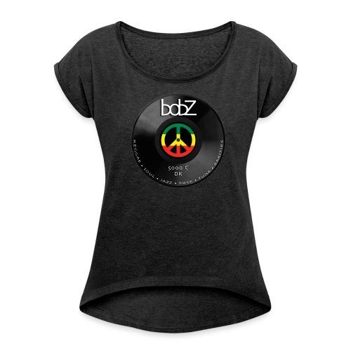 vinylbob - Dame T-shirt med rulleærmer