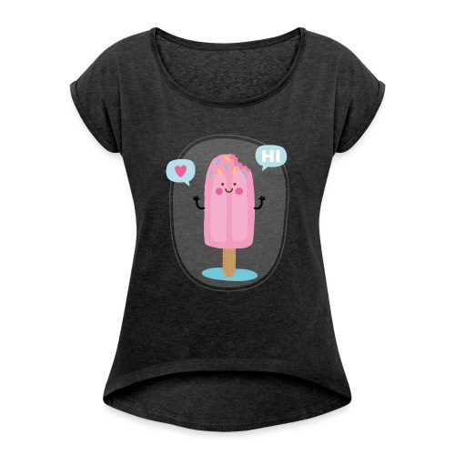 Pink Ice creem - T-shirt à manches retroussées Femme