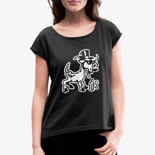Bock auf Shirts ohne Text 30102018 7 07 - Frauen T-Shirt mit gerollten Ärmeln