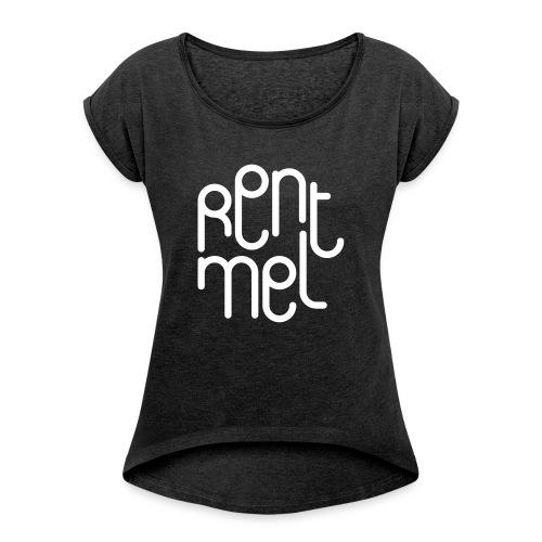 Rent mel - T-skjorte med rulleermer for kvinner