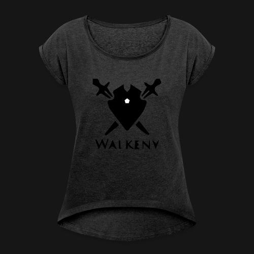 Walkeny Schwert Logo! - Frauen T-Shirt mit gerollten Ärmeln