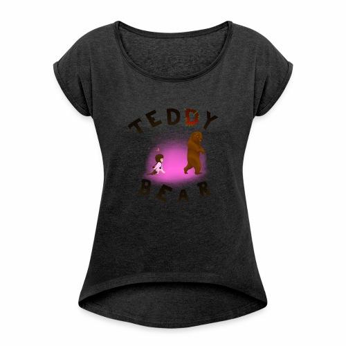 Teddy Bear - T-shirt à manches retroussées Femme