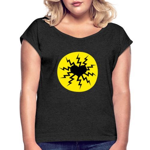 Herzlogo frei - Frauen T-Shirt mit gerollten Ärmeln