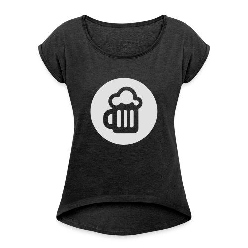 Mørk #internettdager-hettegenser - T-skjorte med rulleermer for kvinner