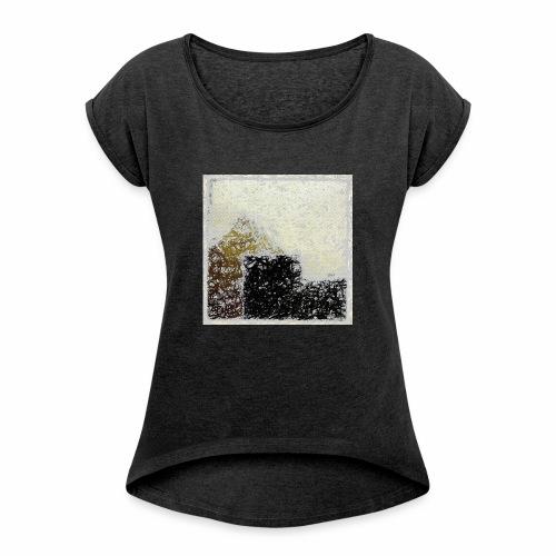 Abstract - Maglietta da donna con risvolti