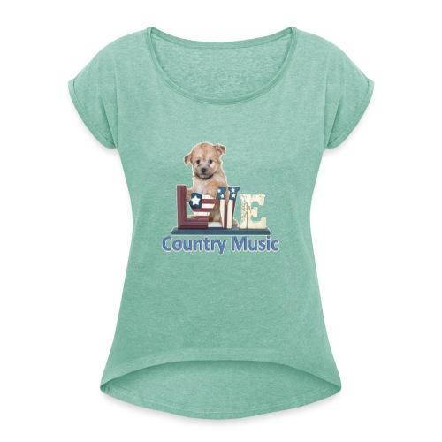 countrydog-png - Maglietta da donna con risvolti