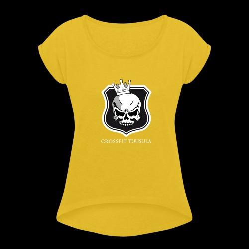 CrossFit Tuusula BW - Naisten T-paita, jossa rullatut hihat
