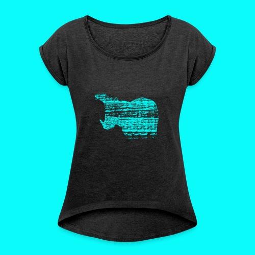 STAFF PICKS - HIPPOPOTAMUS - T-shirt med upprullade ärmar dam