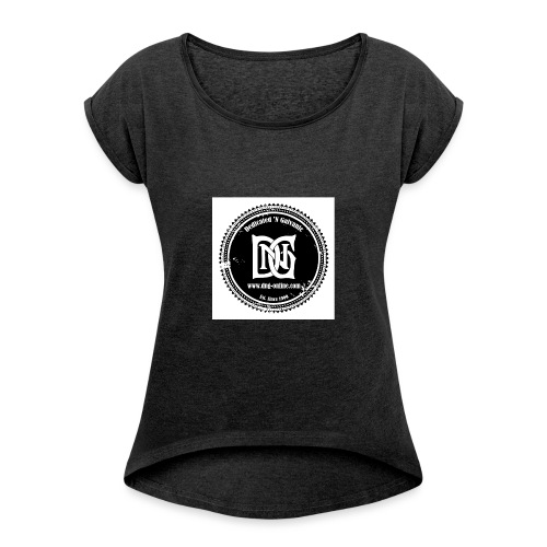 DNG SEAL BLACK - Women's T-Shirt with rolled up sleeves