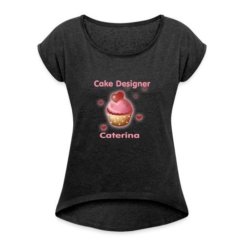 cupcakke - Maglietta da donna con risvolti