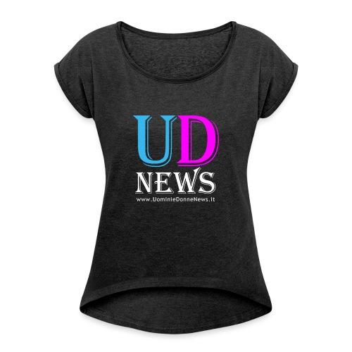 La maglietta di Uomini e Donne News scura - Maglietta da donna con risvolti