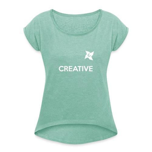 Creative long urban shirt - Dame T-shirt med rulleærmer
