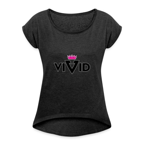 1481194406298 - Women's T-Shirt with rolled up sleeves
