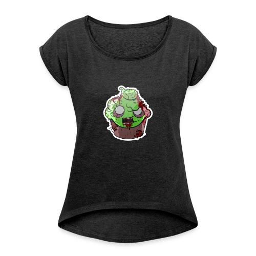 Cupake zombie couleur - T-shirt à manches retroussées Femme