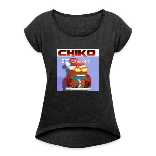chiko00 fain juttuja :D - Women's T-Shirt with rolled up sleeves