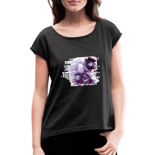 Plakat PG6 2 - Frauen T-Shirt mit gerollten Ärmeln