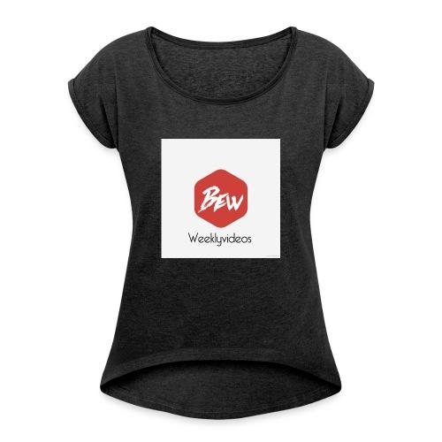 2F43F3D9 6697 4338 9AEA 4F5EC4A56192 - Vrouwen T-shirt met opgerolde mouwen