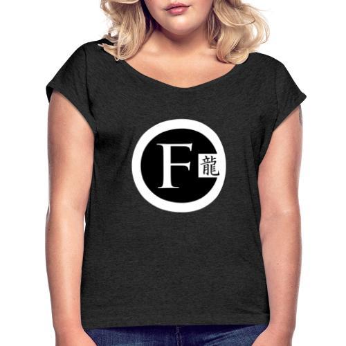 Fletch Premium - Frauen T-Shirt mit gerollten Ärmeln